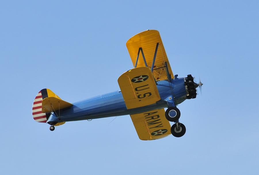 U.s.army Biplane Photograph