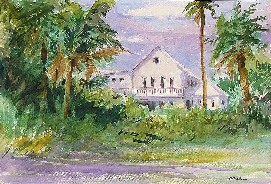 Usepa Island House Painting  - Usepa Island House Fine Art Print