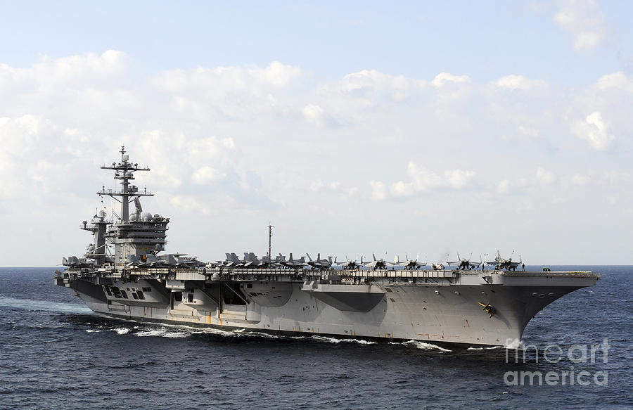 Uss Carl Vinson Underway In The Arabian Photograph