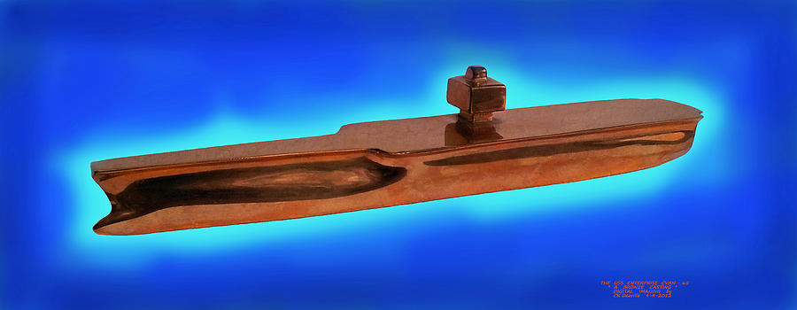 Uss Enterprise Cvan 65 Bronze Digital Art