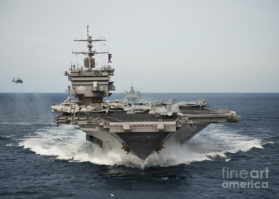 Uss Enterprise Transits The Atlantic Photograph  - Uss Enterprise Transits The Atlantic Fine Art Print
