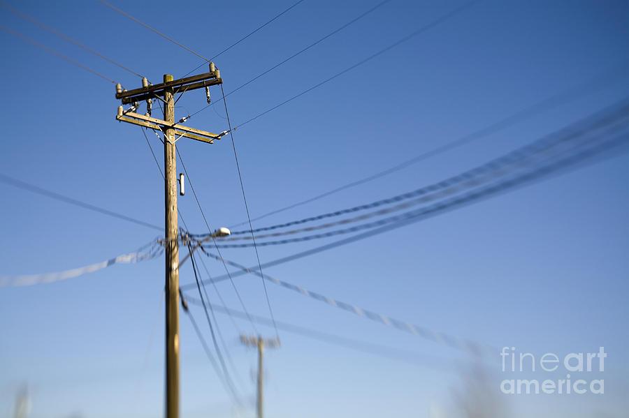 Electric Poles Power Lines : Utility pole and power lines photograph by paul edmondson