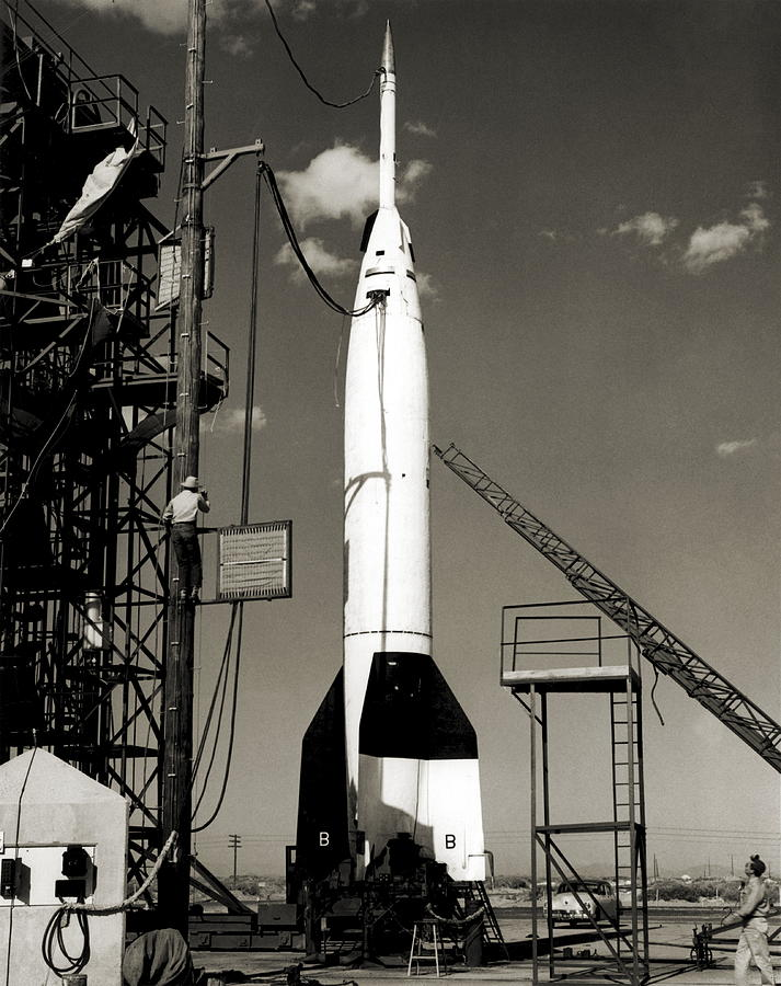 A4 Photograph - V-2 Bumper Rocket Launch In Usa by Detlev Van Ravenswaay