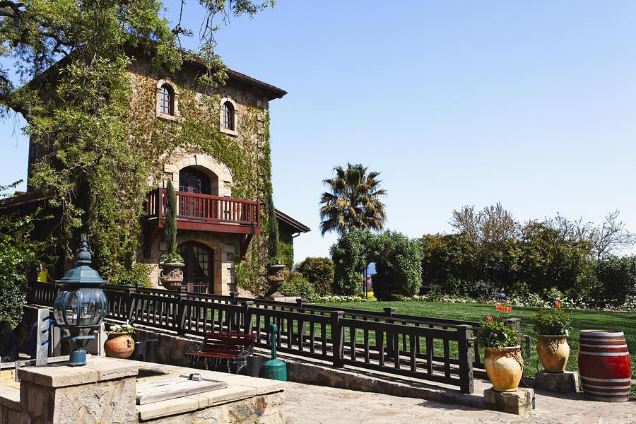 V Sattui Winery Building Napa Valley California Photograph