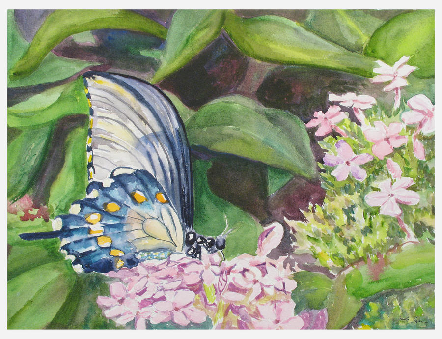Vacition Butterfly Painting  - Vacition Butterfly Fine Art Print