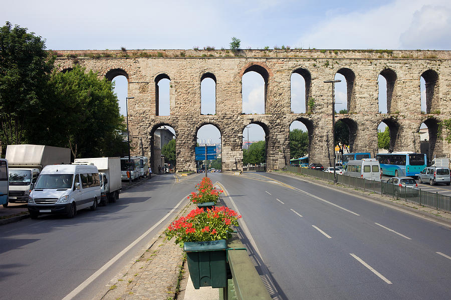 Valens Aqueduct In Istanbul Photograph  - Valens Aqueduct In Istanbul Fine Art Print