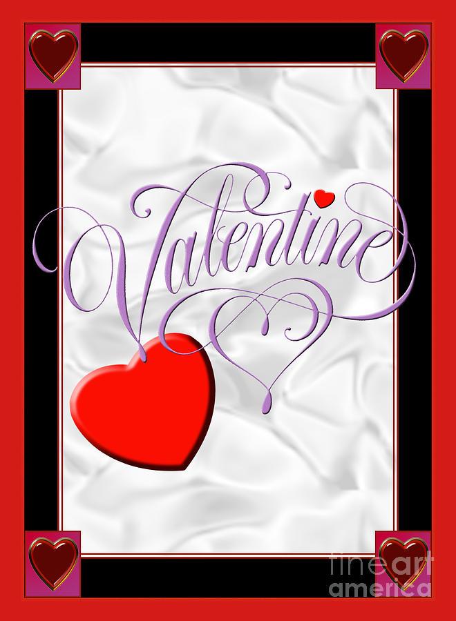 Valentine Script Digital Art