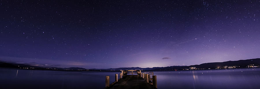 Panorama Photograph - Valhalla Pier Lake Tahoe by Brad Scott
