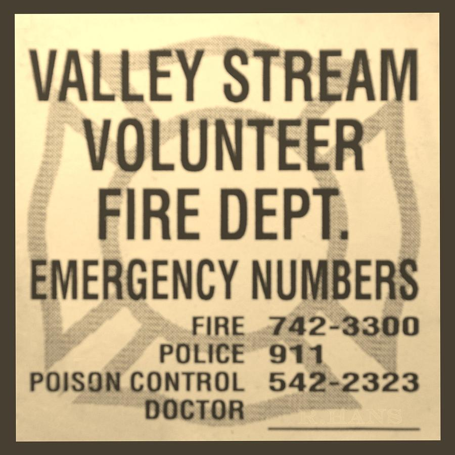Vallet Stream Fire Department In Sepia Photograph  - Vallet Stream Fire Department In Sepia Fine Art Print