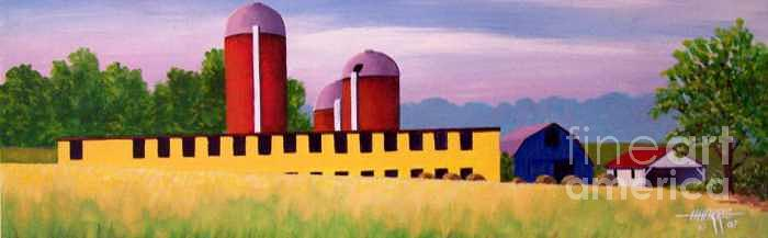 Valley Farm Painting  - Valley Farm Fine Art Print