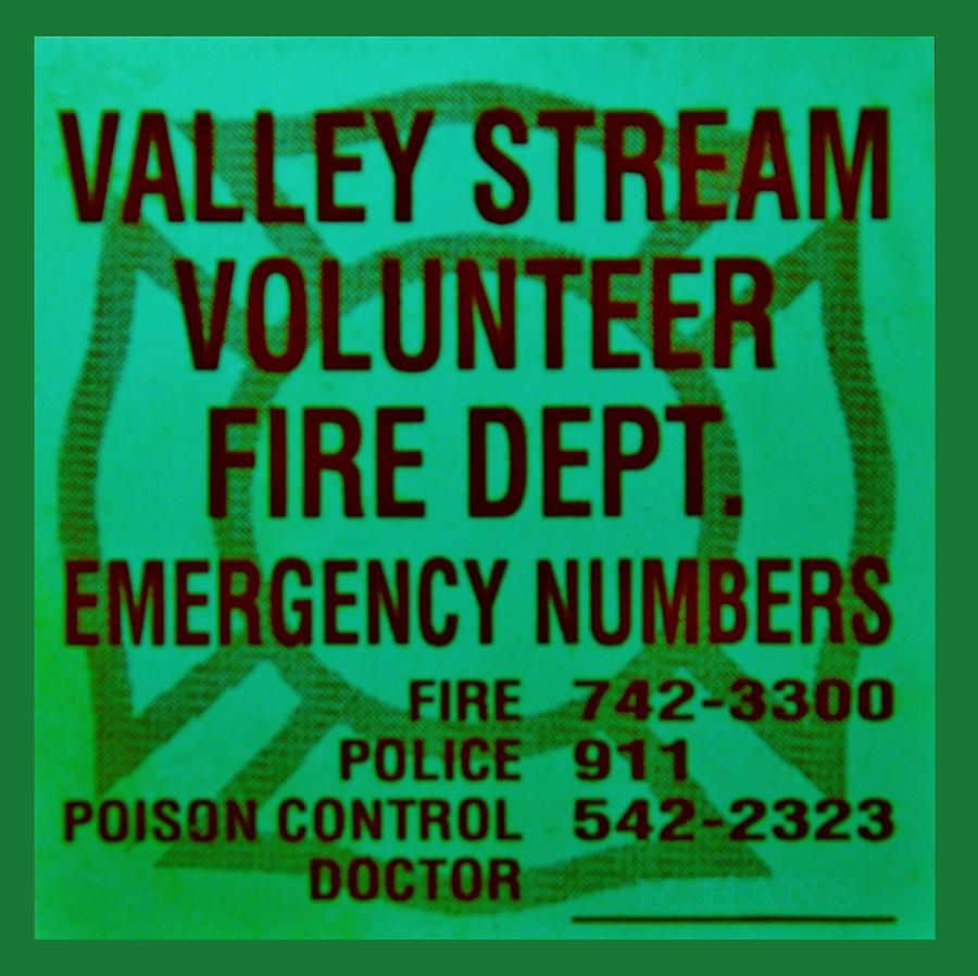 Valley Stream Fire Department In Irish Green Photograph  - Valley Stream Fire Department In Irish Green Fine Art Print