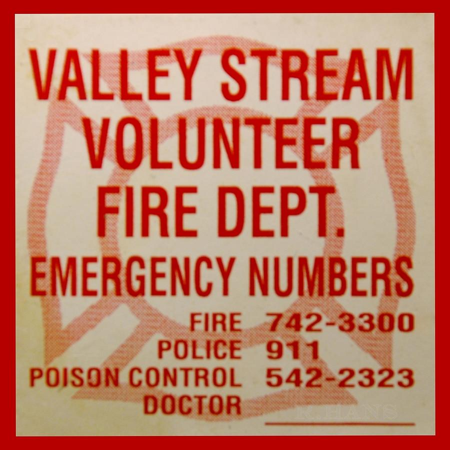 Valley Stream Fire Department Photograph  - Valley Stream Fire Department Fine Art Print