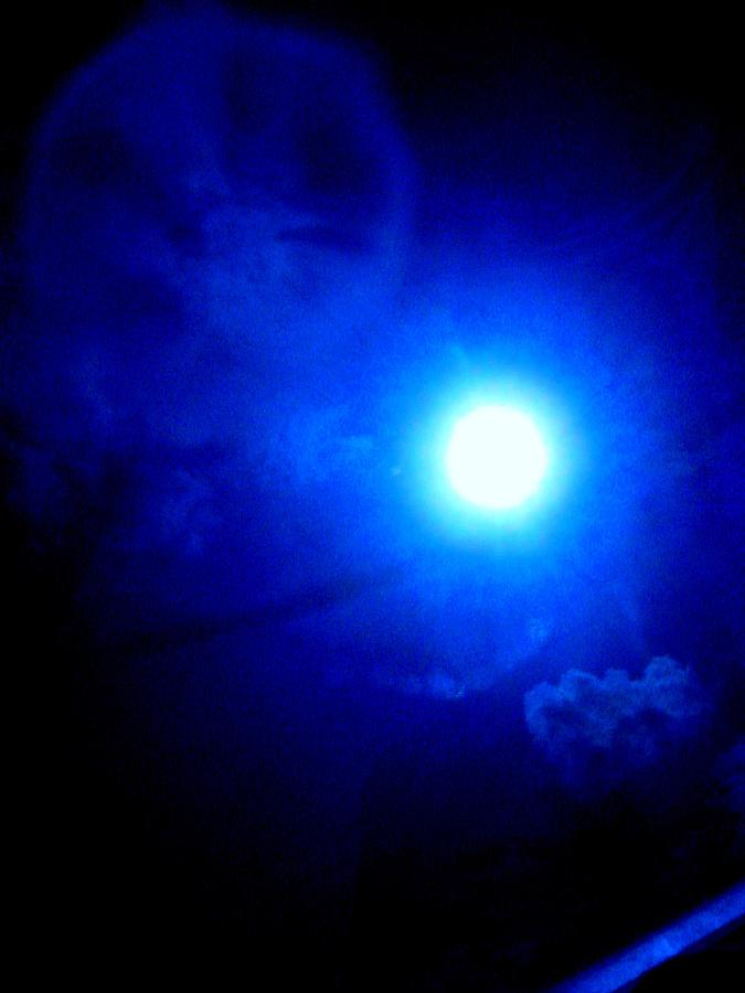 Expressive Sky Photograph - Vampire Moon by Allen n Lehman