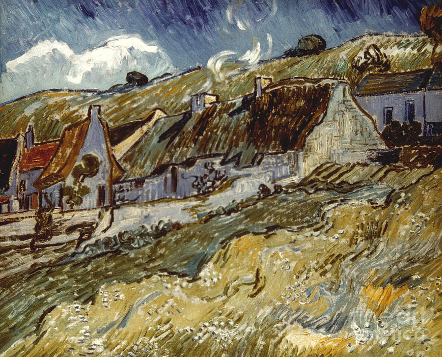Van Gogh: Cottages, 1890 Photograph  - Van Gogh: Cottages, 1890 Fine Art Print