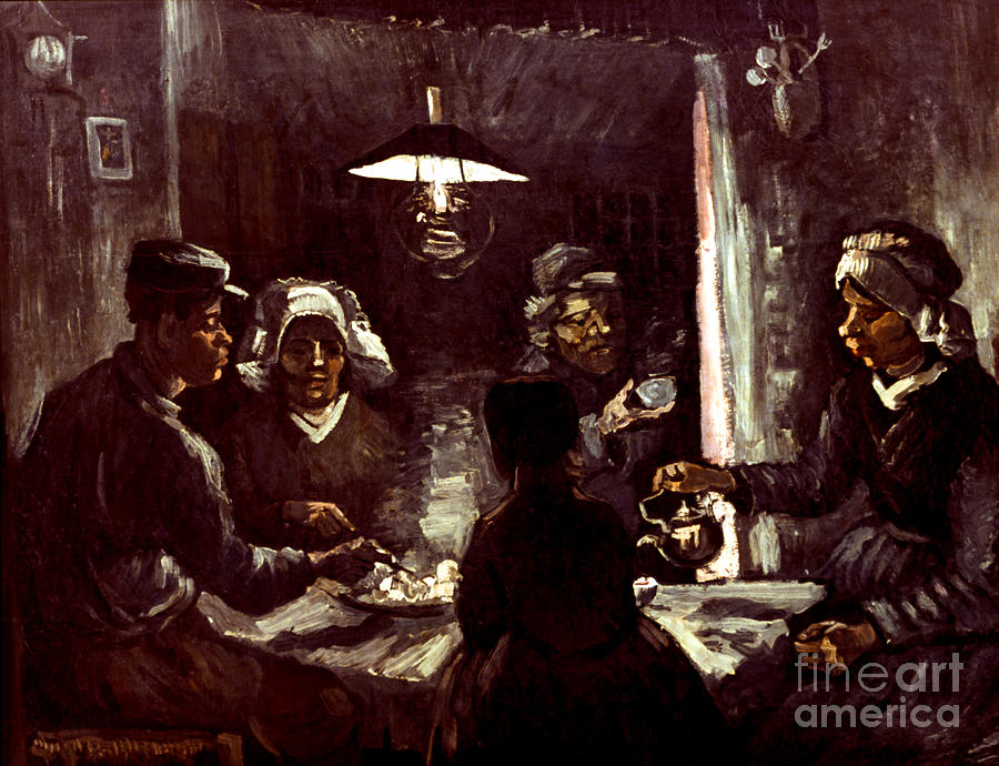 Van Gogh: Meal, 1885 Photograph  - Van Gogh: Meal, 1885 Fine Art Print