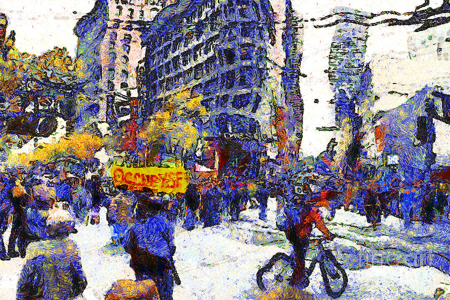 Van Gogh Occupies San Francisco . 7d9733 Photograph  - Van Gogh Occupies San Francisco . 7d9733 Fine Art Print