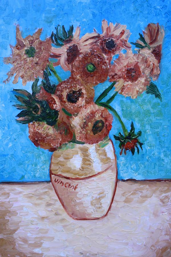 Van Gogh Sunflowers I Painting  - Van Gogh Sunflowers I Fine Art Print