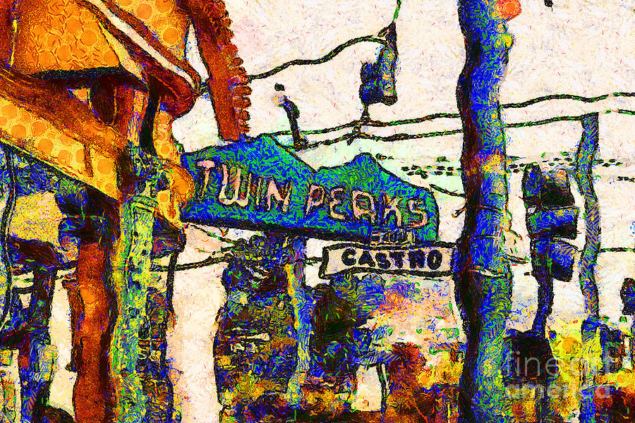 Van Gogh Takes A Wrong Turn And Discovers The Castro In San Francisco . 7d7547 Photograph