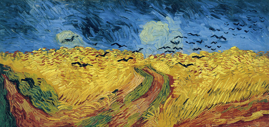 Van Gogh Wheatfield With Crows Painting  - Van Gogh Wheatfield With Crows Fine Art Print
