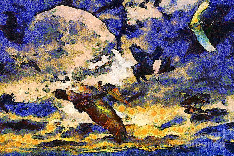 Van Gogh.s Flying Pig Photograph