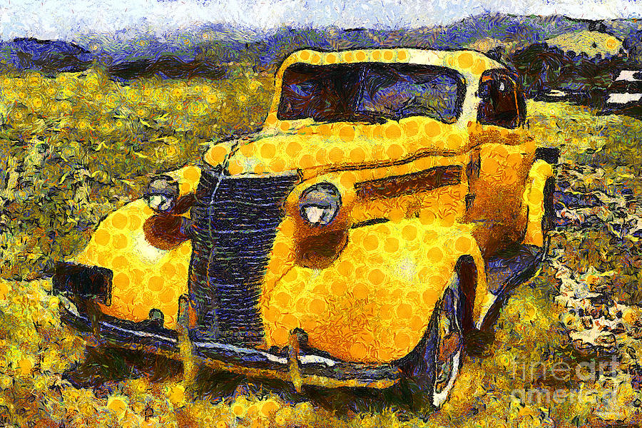 Van Gogh.s Old Ride 7d15315 Photograph  - Van Gogh.s Old Ride 7d15315 Fine Art Print