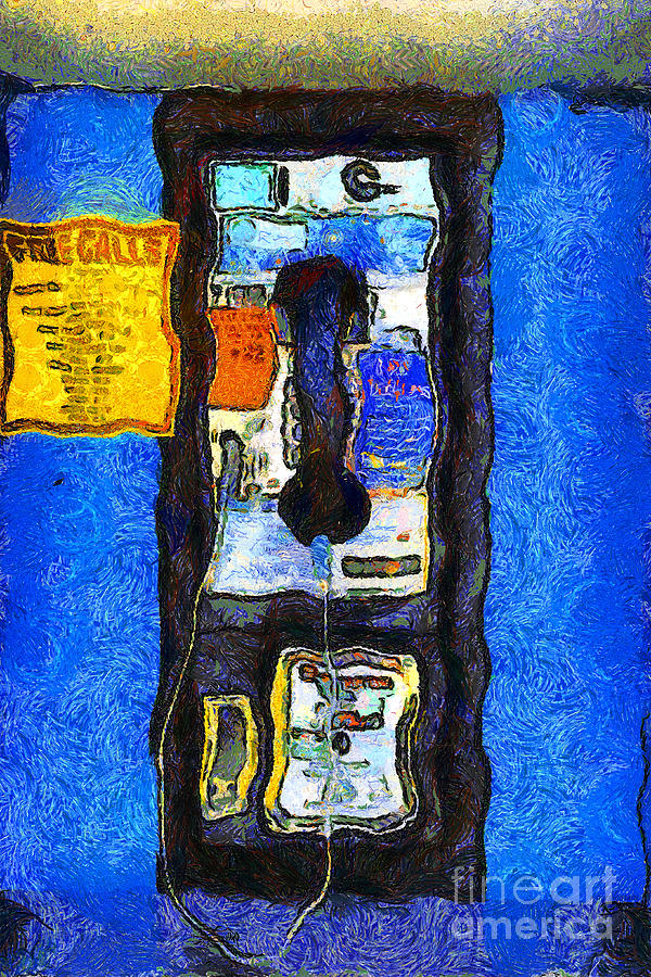Van Gogh.s Pay Phone . 7d15934 Photograph  - Van Gogh.s Pay Phone . 7d15934 Fine Art Print