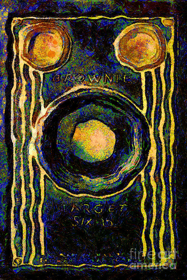 Van Gogh.s Vintage Kodak Brownie Six-16 Camera Photograph