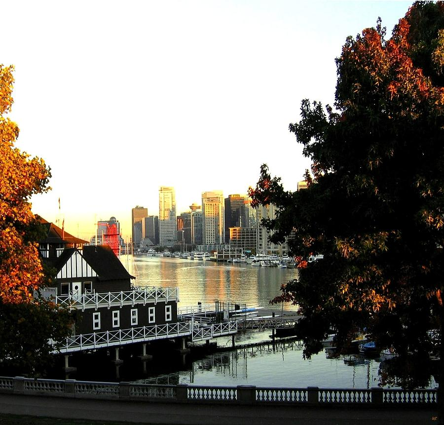 Vancouver At Sundown Photograph  - Vancouver At Sundown Fine Art Print