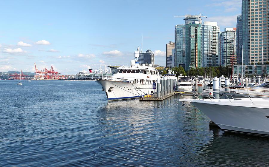 Vancouver Bc Downtown Skyline Panorama Marina Canada. Photograph