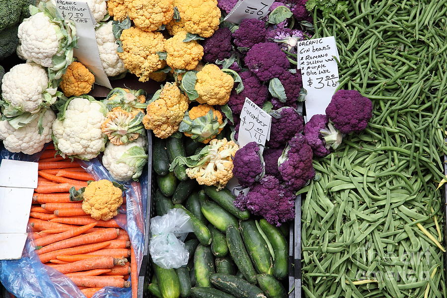 Variety Of Fresh Vegetables - 5d17900 Photograph