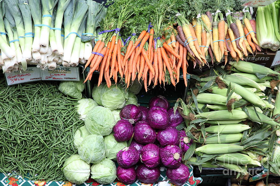 Variety Of Fresh Vegetables - 5d17910 Photograph