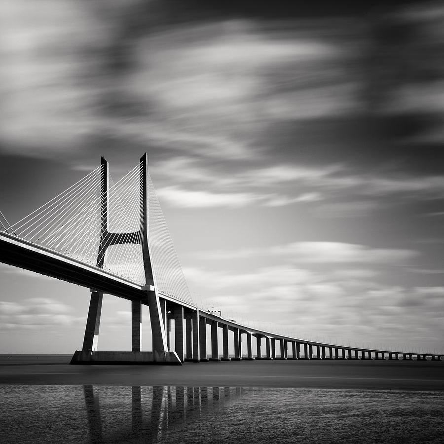 Vasco Da Gama Bridge IIi Photograph  - Vasco Da Gama Bridge IIi Fine Art Print