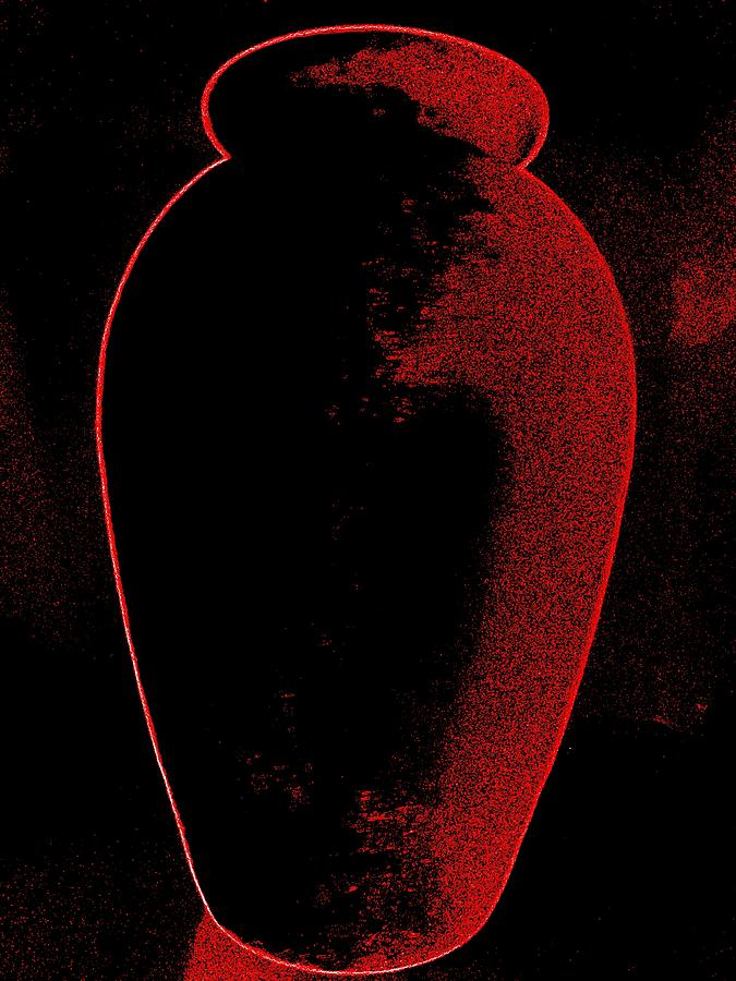 Vase On Black Digital Art  - Vase On Black Fine Art Print