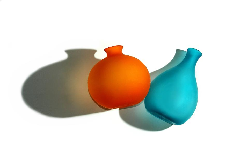 Vases And Shadows Photograph