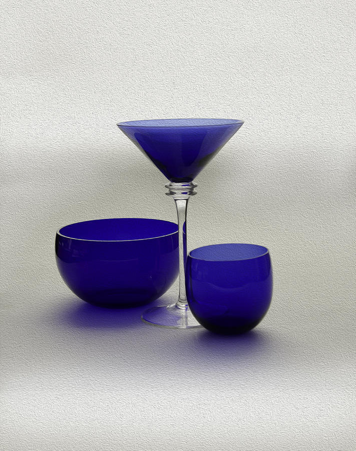Vases Of Blue Glass Art  - Vases Of Blue Fine Art Print