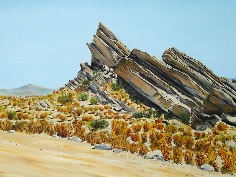Vasquez Rocks Looking South Painting  - Vasquez Rocks Looking South Fine Art Print