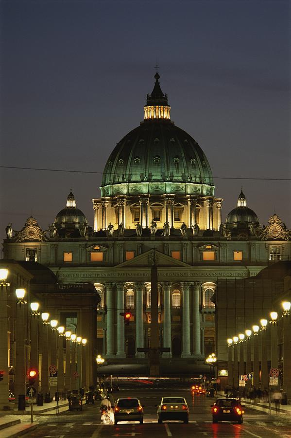 Vatican, Rome, Italy.  Night View Photograph