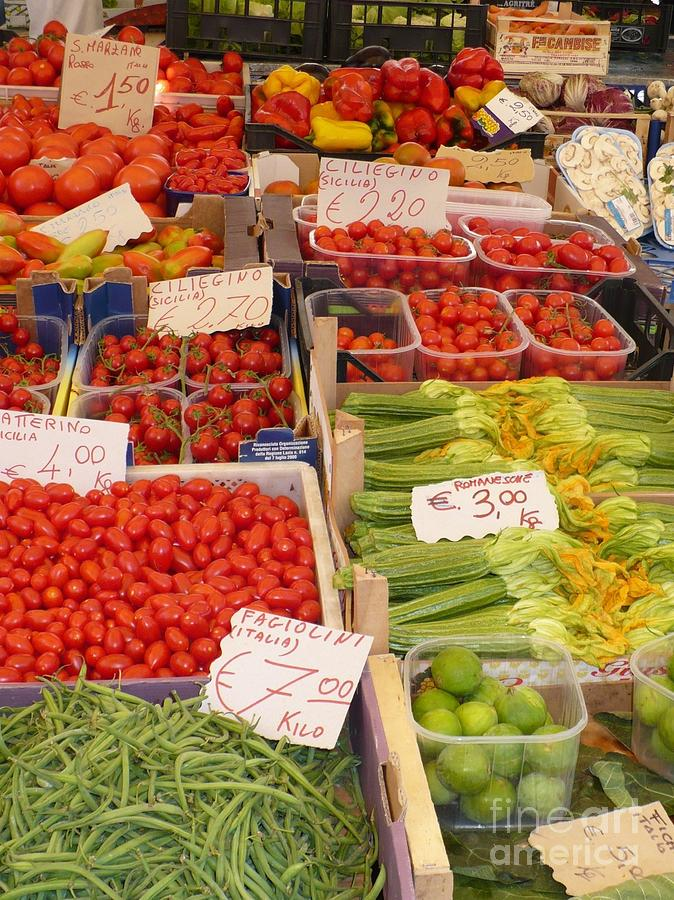 Vegetables At Italian Market Photograph  - Vegetables At Italian Market Fine Art Print