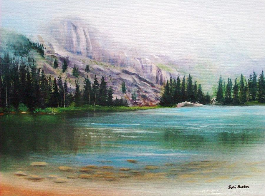 Veil Over Elk Lake Painting  - Veil Over Elk Lake Fine Art Print