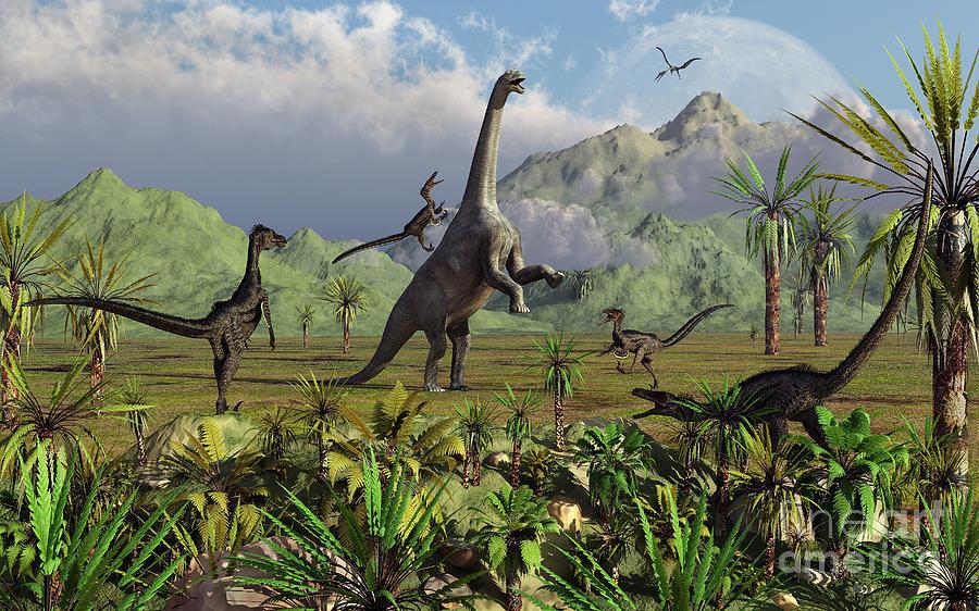 Velociraptor Dinosaurs Attack Digital Art