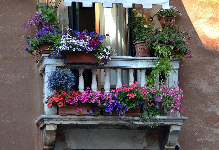Venetian Balcony Photograph