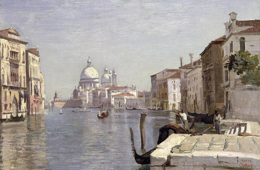 Venice - View Of Campo Della Carita Looking Towards The Dome Of The Salute Painting  - Venice - View Of Campo Della Carita Looking Towards The Dome Of The Salute Fine Art Print