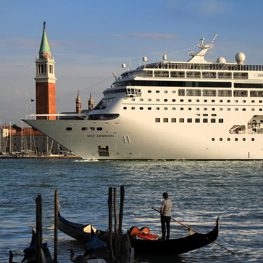 Venice Cruise Ship 2 Photograph  - Venice Cruise Ship 2 Fine Art Print