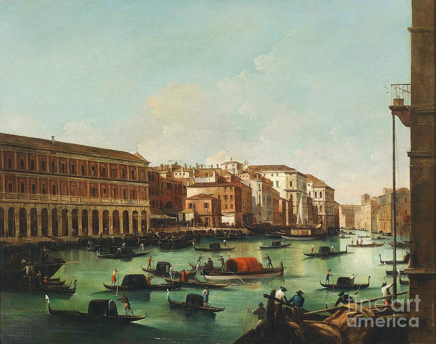 Pd Painting - Venice Grand Canal by Pg Reproductions