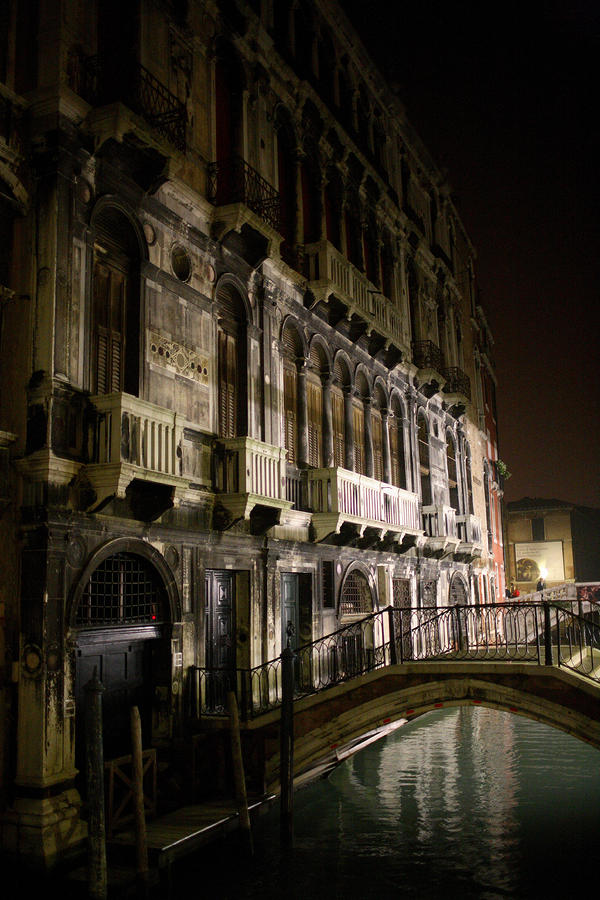 Venice Night Scene Photograph