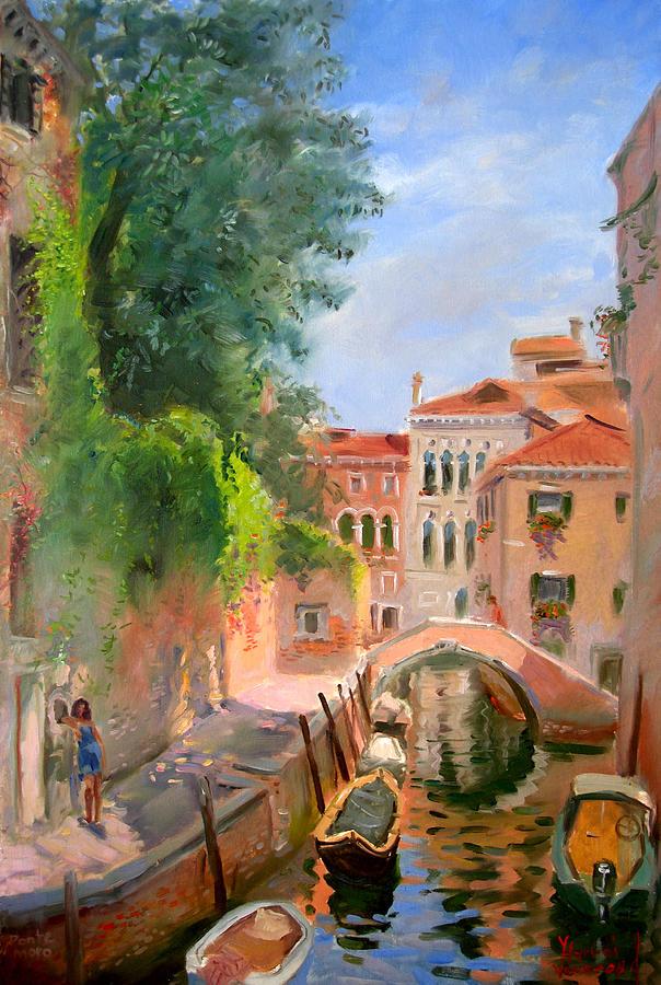 Venice Ponte Moro Painting