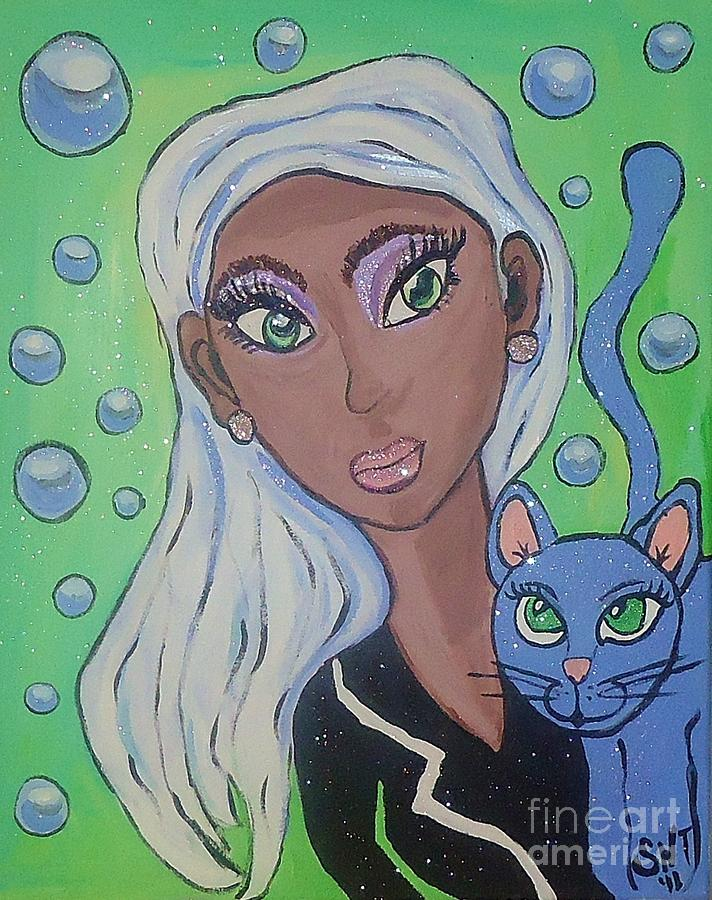 African American Art Painting - Vera And Kira by Stephanie Temple