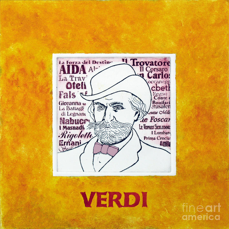Verdi Portrait Mixed Media  - Verdi Portrait Fine Art Print