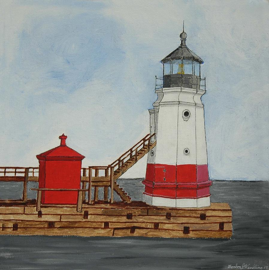 Vermilion Ohio Lighthouse Painting  - Vermilion Ohio Lighthouse Fine Art Print