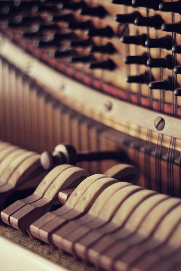 Vertical Piano Photograph